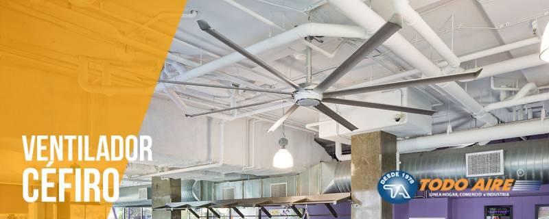 Sistema de ventilación HVLS