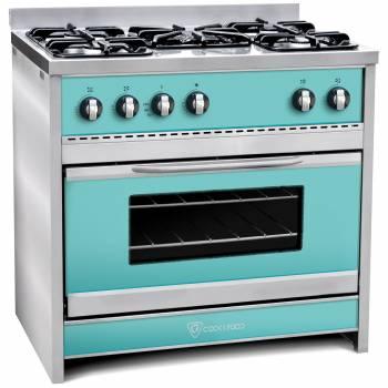 Marca : COOK & FOOD - Mod : CF90 Chiara ( Colores ) 5 Hornallas