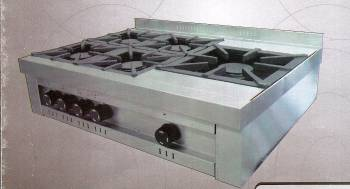 Anafe línea industrial 5 hornallas. S/base