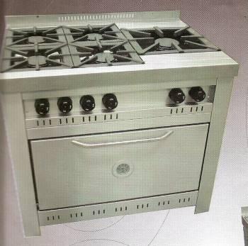 Cocina línea gastronómica 5 hornallas