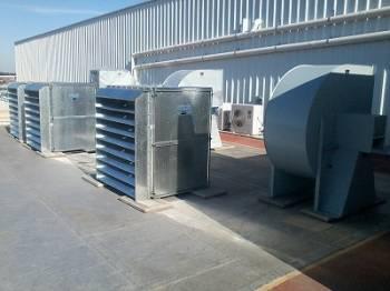 Obra Duas Rodas: sistema de ventilación industrial